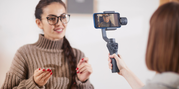 women social media recording